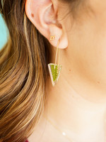 Belart Mini Triangle Fern  Earrings