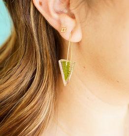 Belart Mini Triangle Fern  Earrings