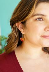 Belart Half Moon Rose Petal Earrings