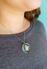 Belart Moon Hydrangea Necklace