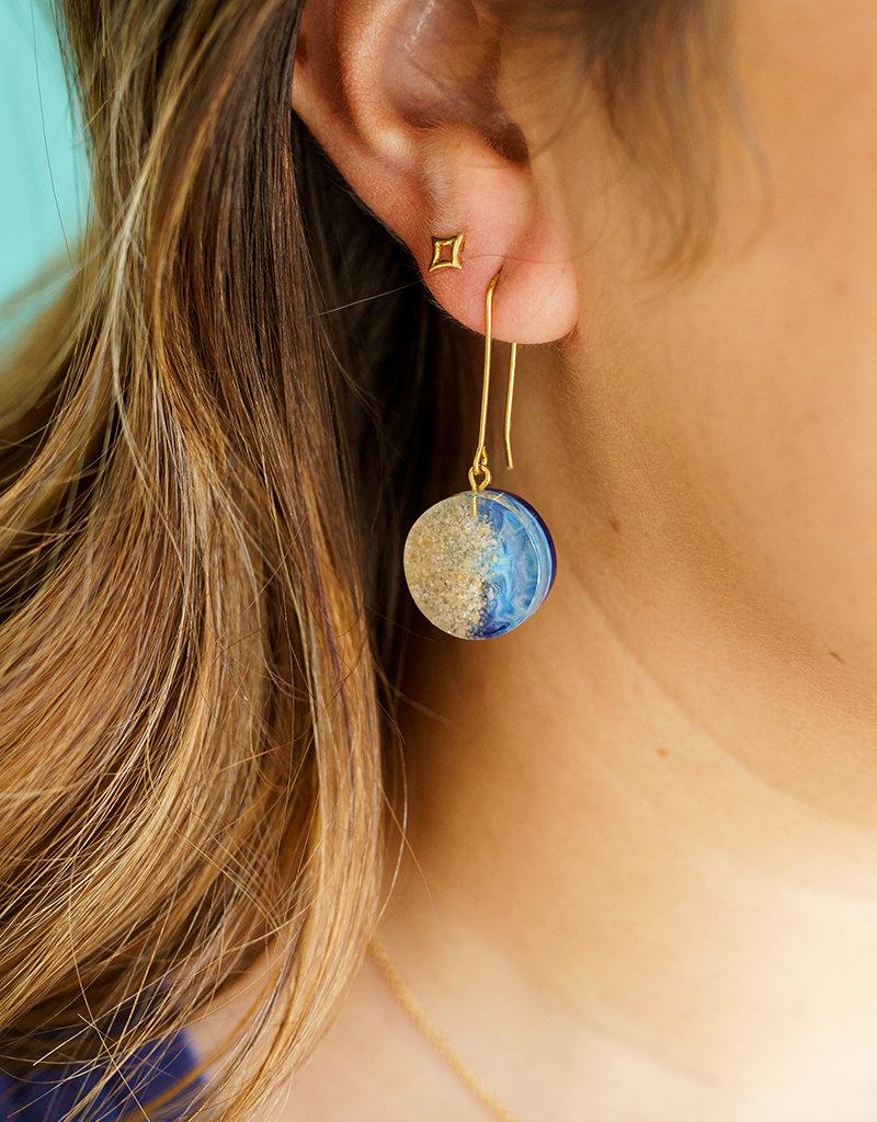 Belart Mini Moon Ocean Earrings