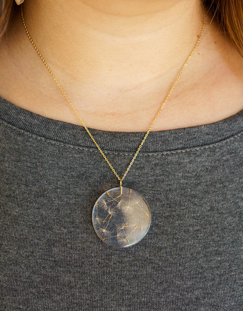 Belart Moon Dandelion Necklace