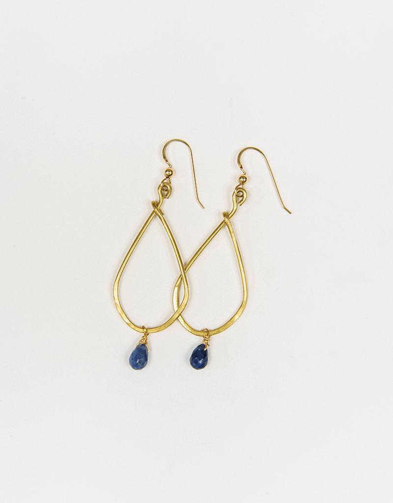 Forai Marisol Hammered Brass Earrings