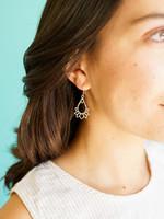Ganesh Himal Lotus Teardrop Earrings