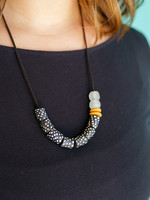 Global Mamas Mustard Left of Center Necklace