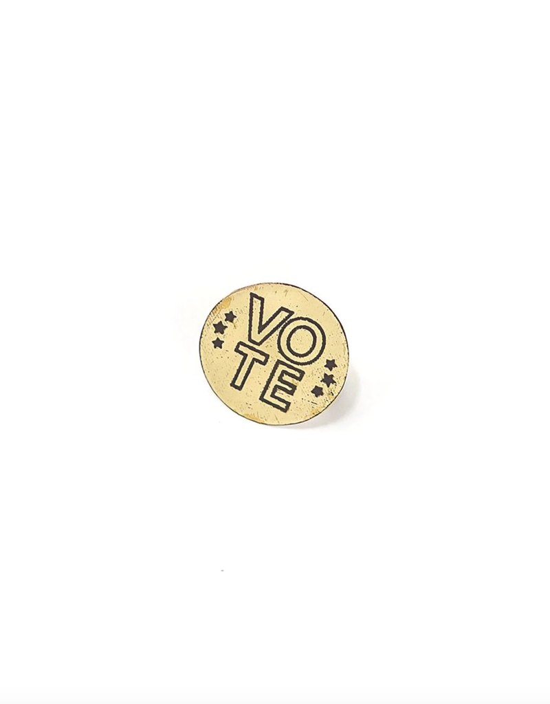 Vote Pin (stacked letters)