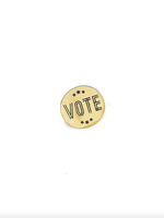 Vote Pin (horizontal letters)