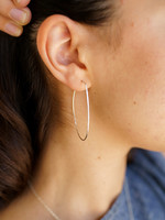 Forai Azmera Hammered Loop Earrings
