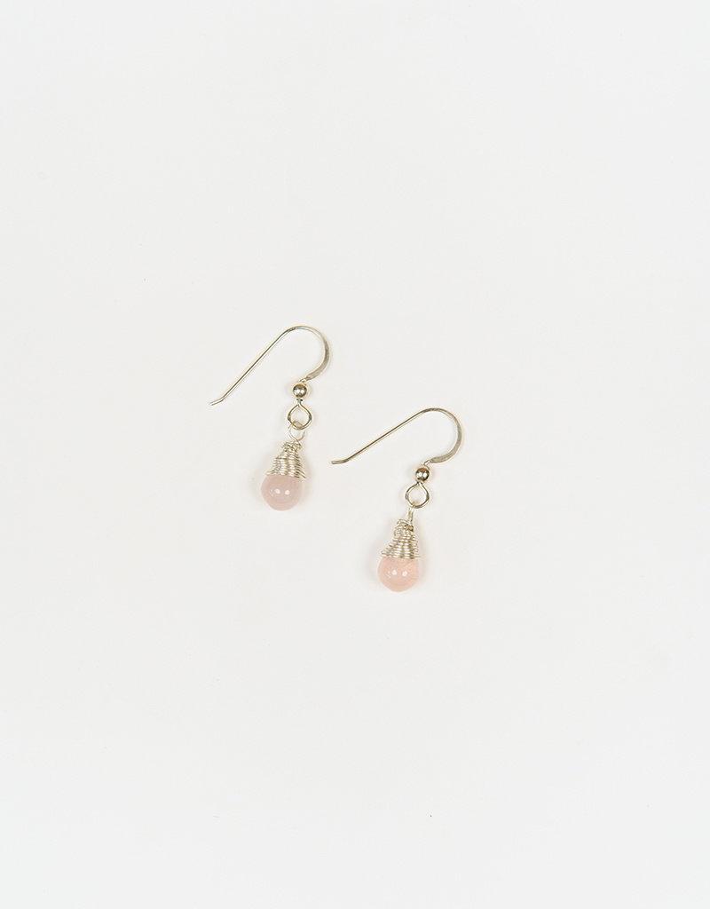 Forai Mingle Drop Rose Quartz Earrings