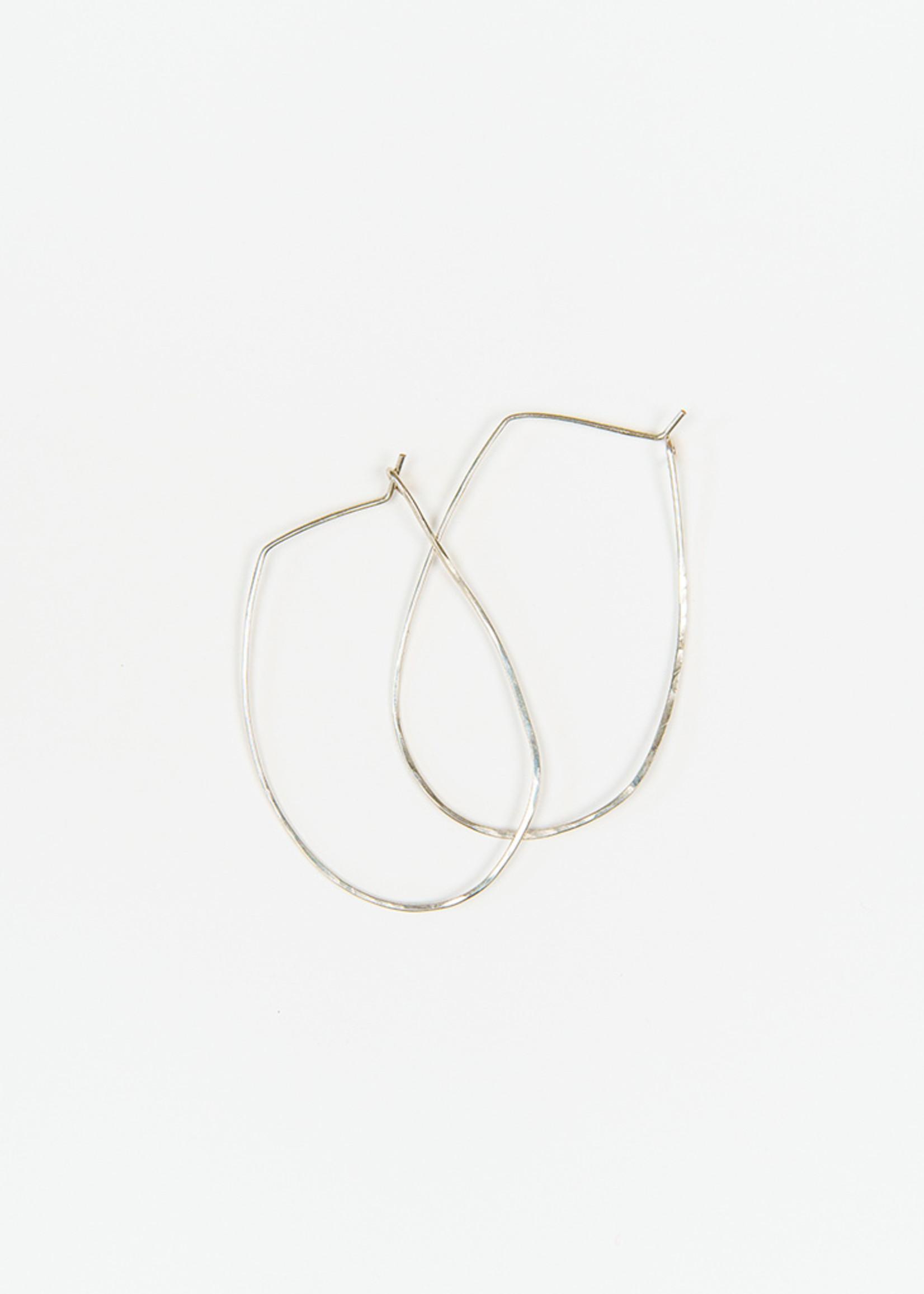 Forai Azmera Hammered Loop Earrings
