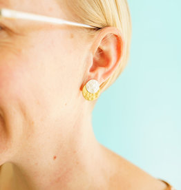 Bombolulu Double Disk Earrings