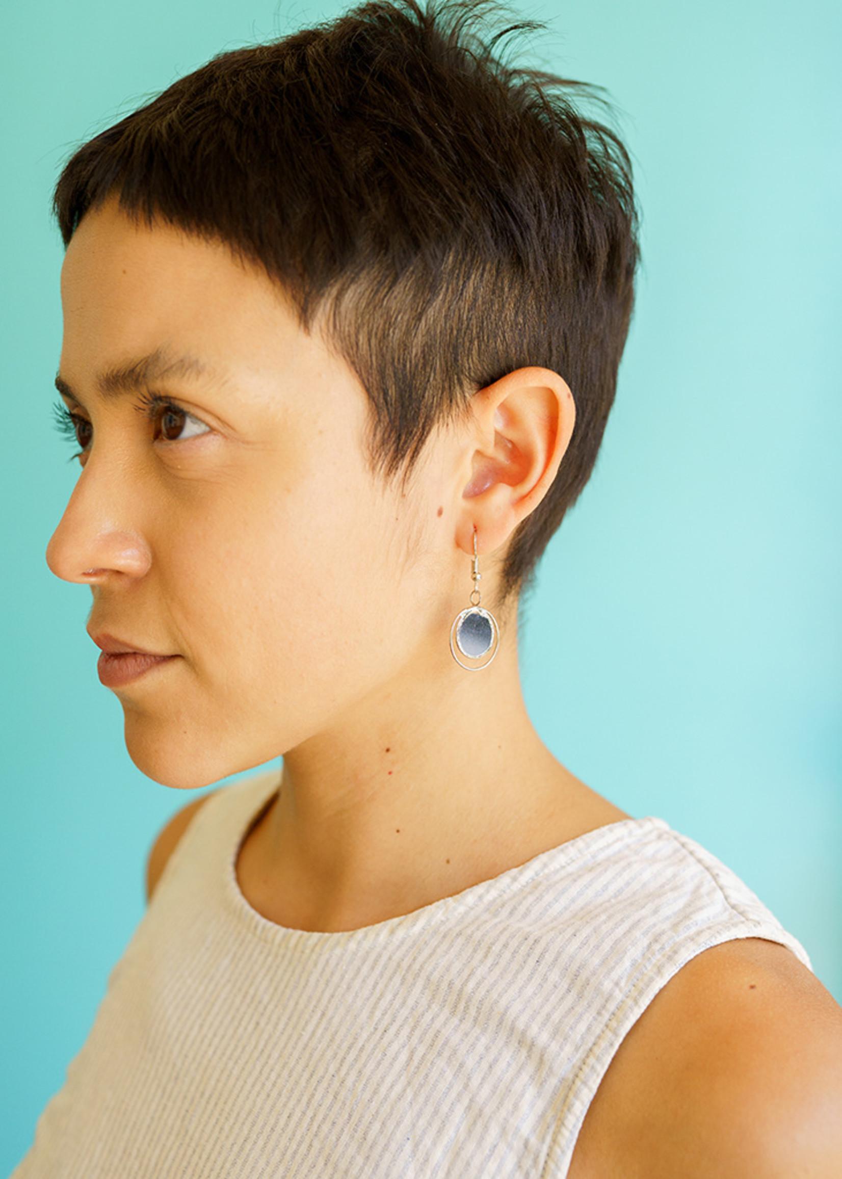 Saffy Handicrafts Grey Dusk Earrings