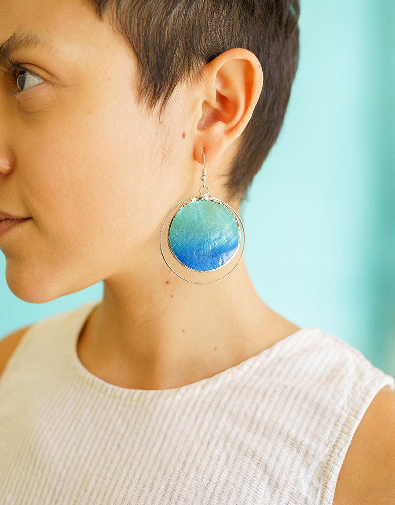Saffy Handicrafts Deep Ocean Earrings