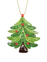 Mai Vietnamese Handicrafts Quilled Christmas Tree Ornament