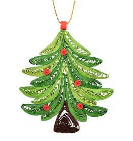 Mai Vietnamese Handicrafts Quilled Christmas Tree Ornament