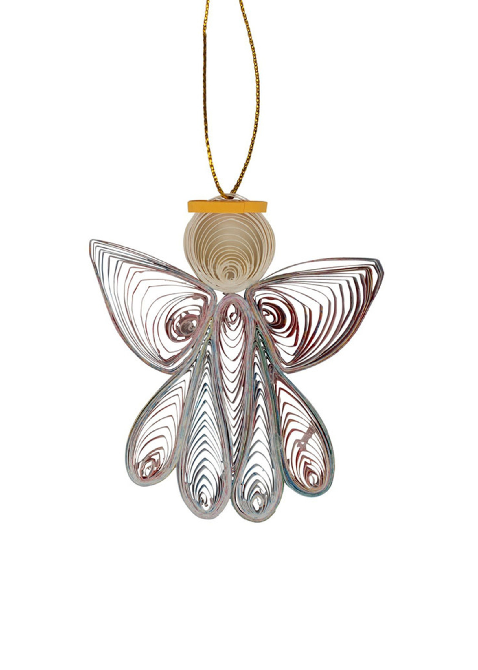 Mai Vietnamese Handicrafts Quilled Paper Angel Ornament