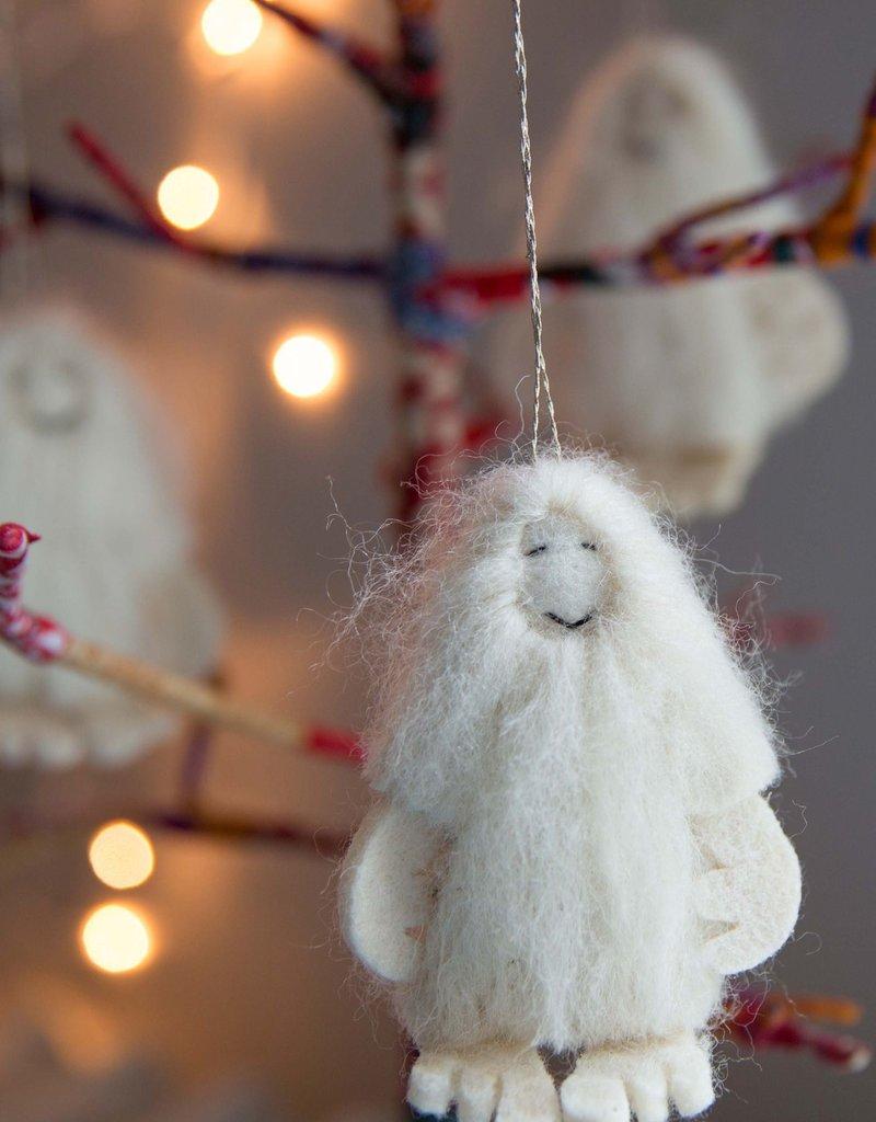 Felt Yeti Ornament