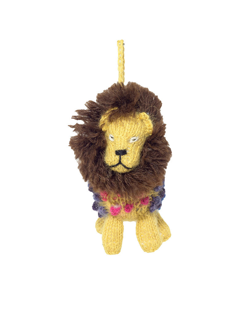 Lucuma Designs Knitted Alpaca Lion Ornament