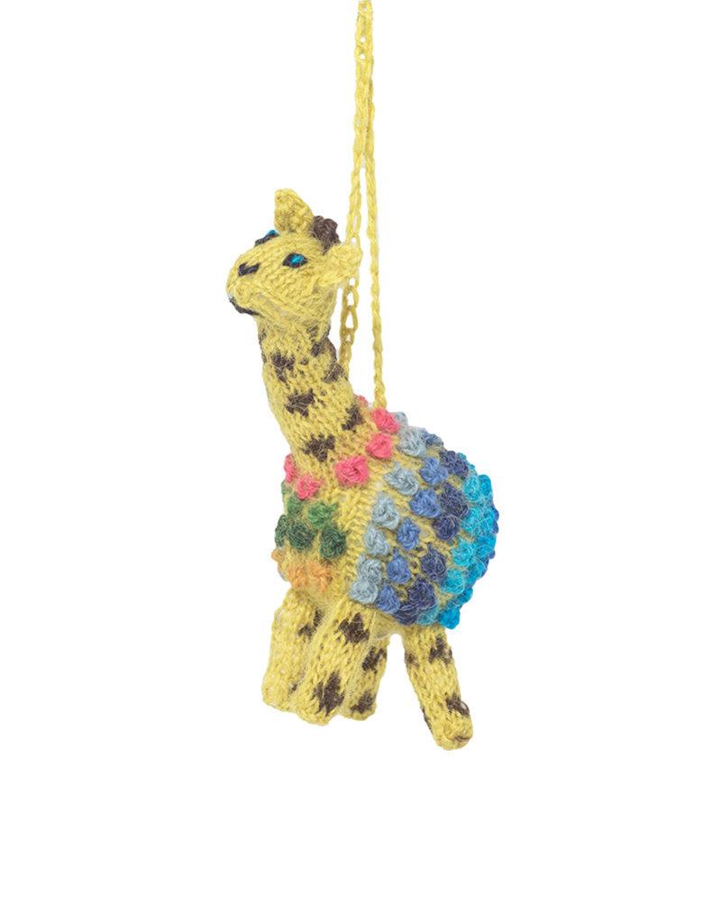 Lucuma Designs Knitted Alpca Giraffe Ornament