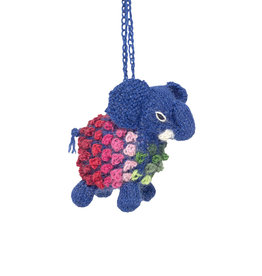 Lucuma Designs Knitted Alpaca Elephant Ornament