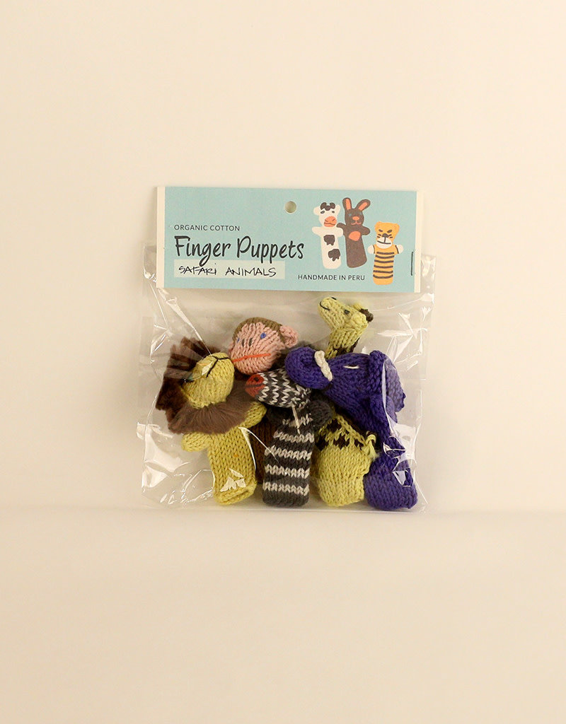 Lucuma Designs Safari Animals Finger Puppet Set