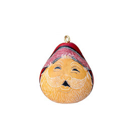 Lucuma Designs Santa Smile Gourd Ornament