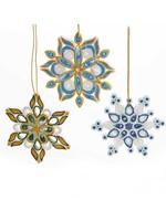 Mai Vietnamese Handicrafts Quilled Snowflake Ornament