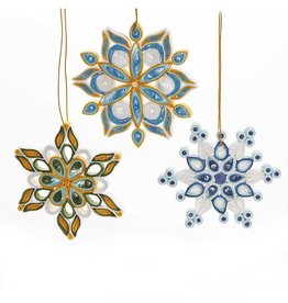 Mai Vietnamese Handicrafts Quilled Snowflake Ornament