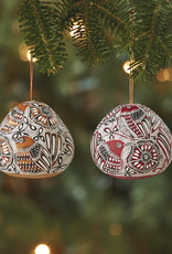 Bird Motif Gourd Ornament