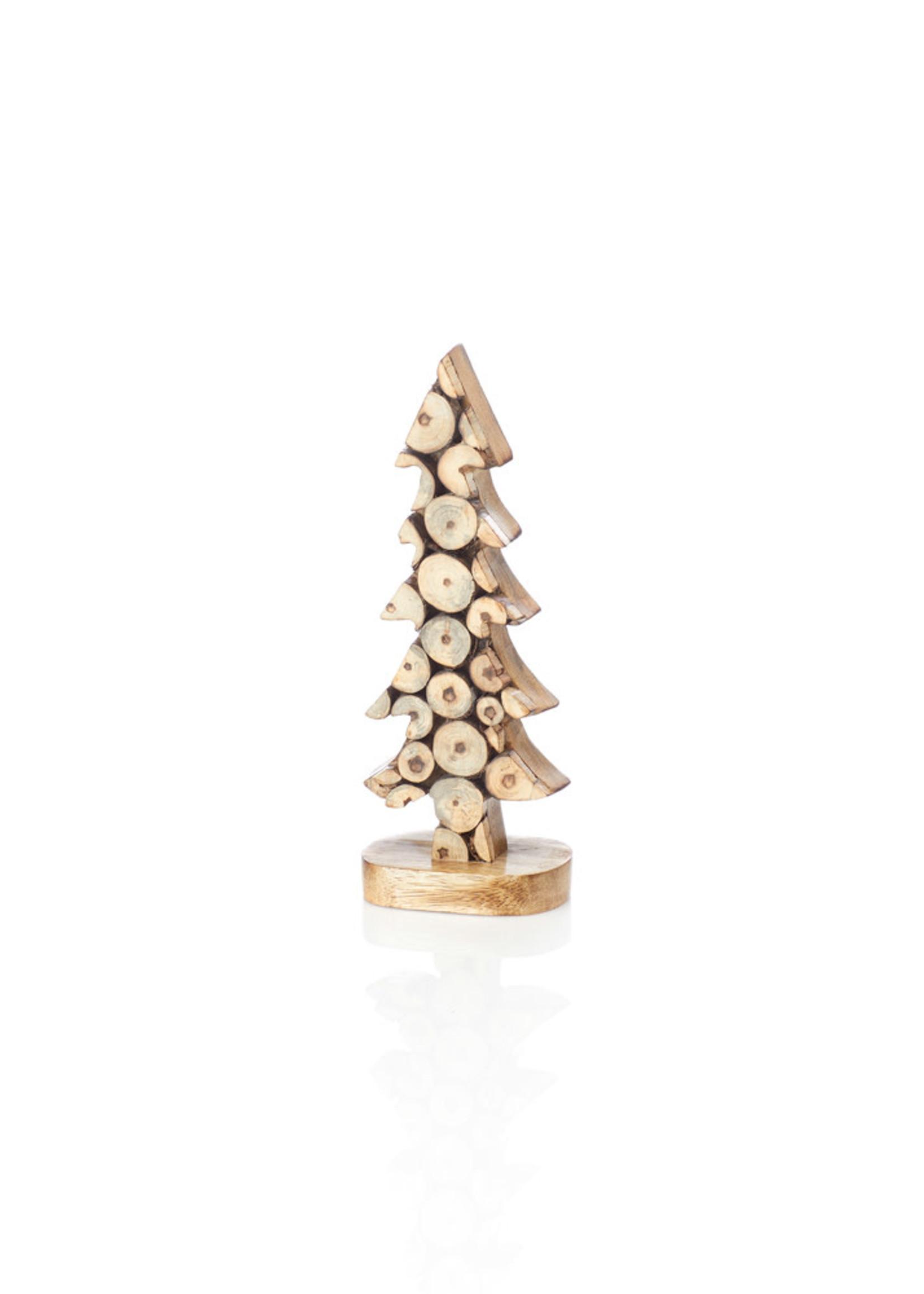 Small Wood Slice Tree