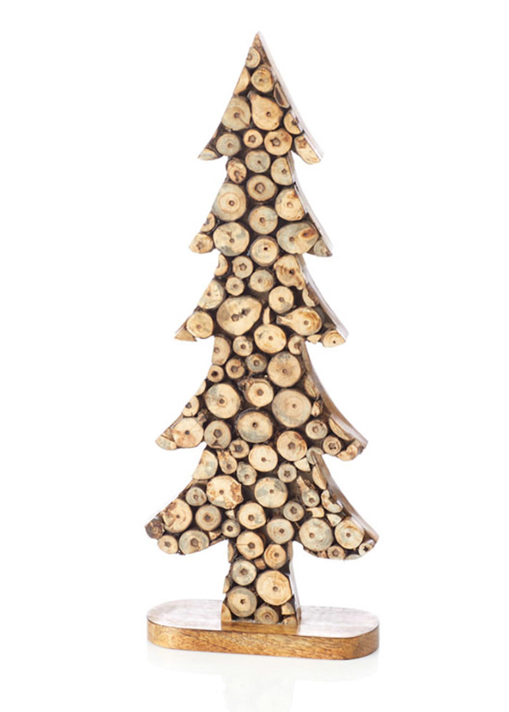 Large Wood Slice Tree