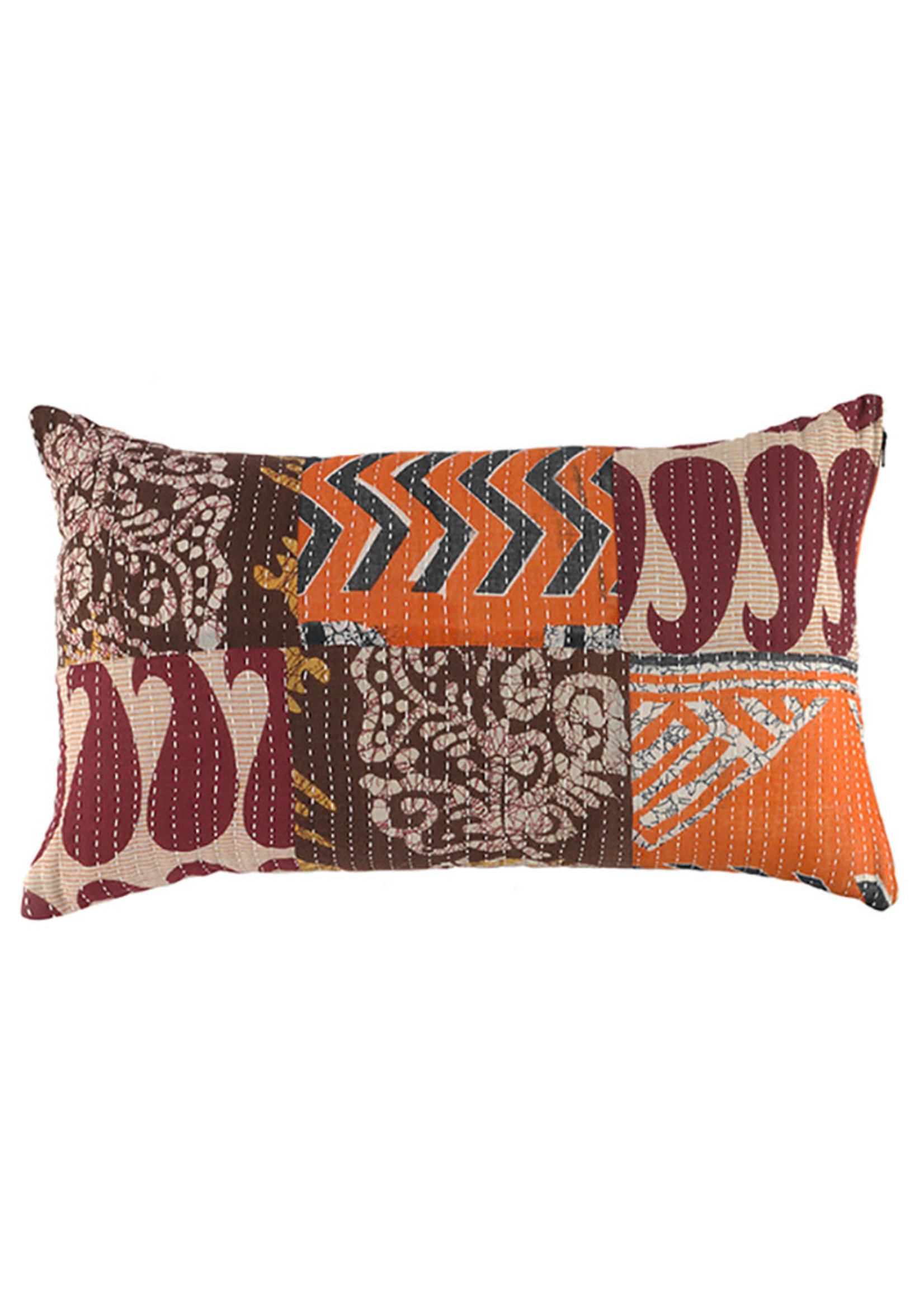 Kantha Patchwork Lumbar Pillow