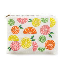 Citrus Zipper Pouch
