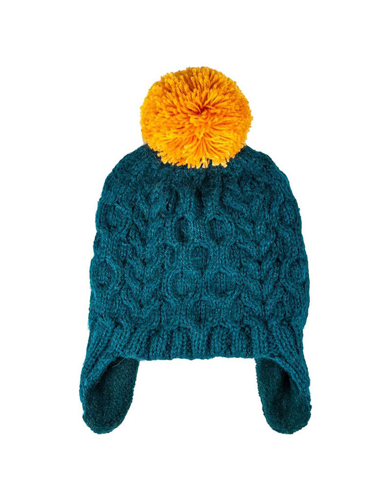 Kid's Cable Pom Hat