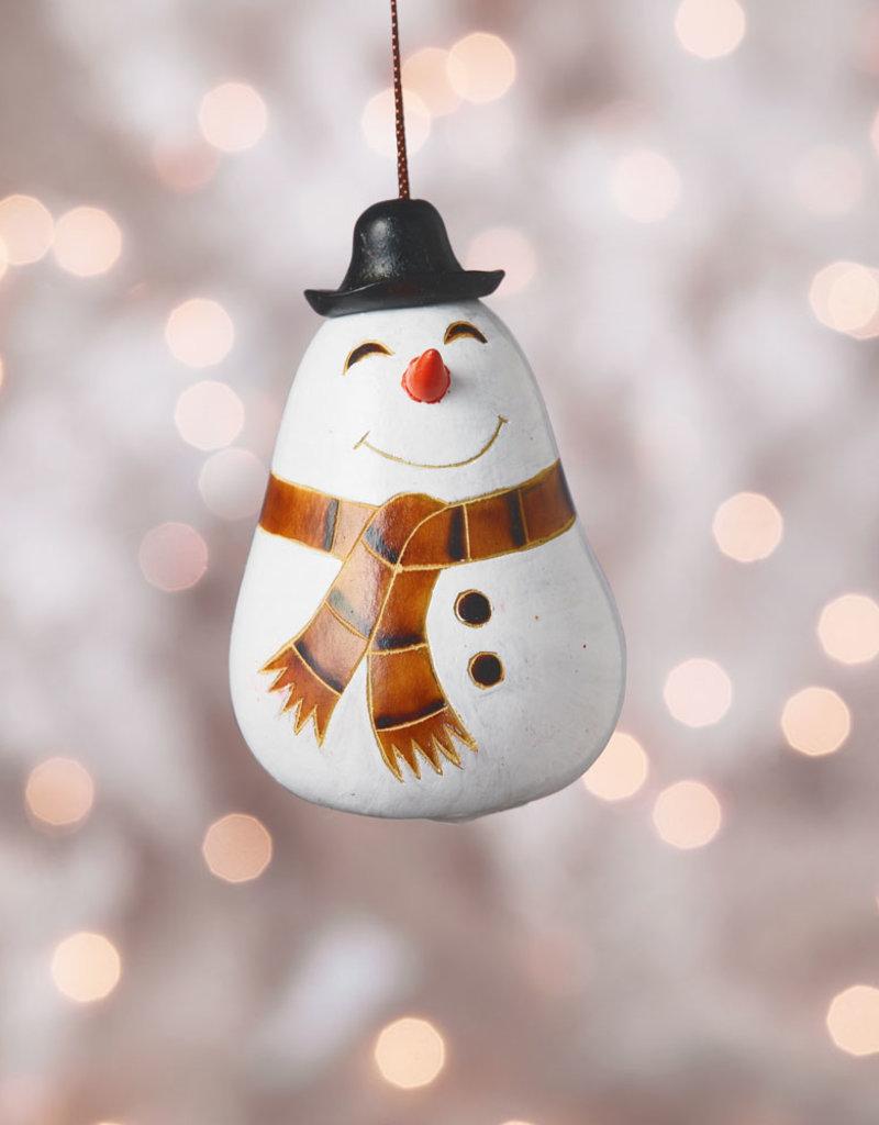 Snowman Scarf Gourd Ornament