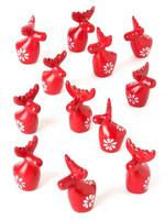 Miniature Red Soapstone Reindeer