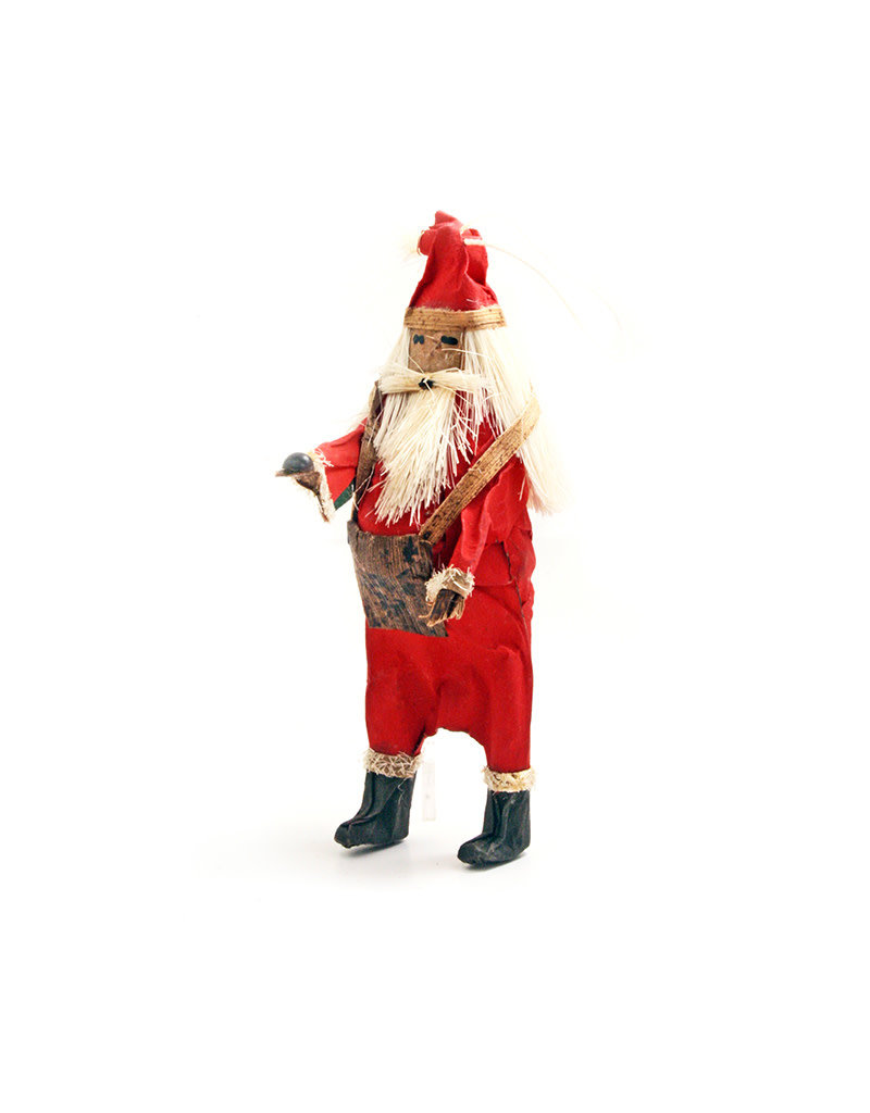 Rosy Red African Santa Ornament