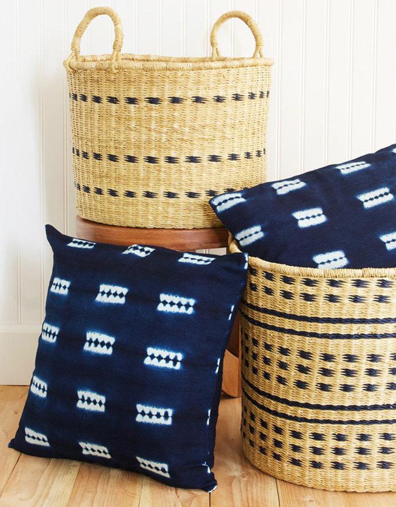 Malian Decorative Indigo Pillow