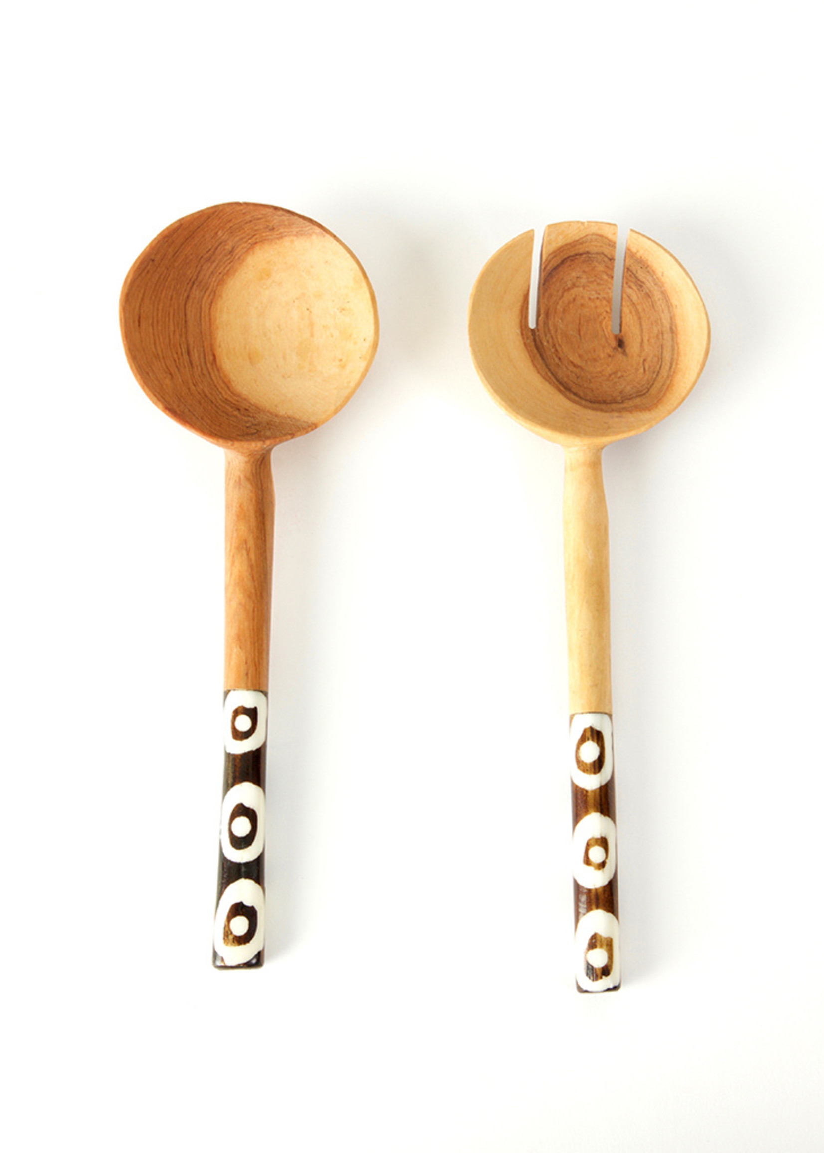 Olive Wood Traditional Petite Salad Servers
