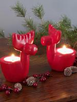 Red Reindeer Tealight Holder
