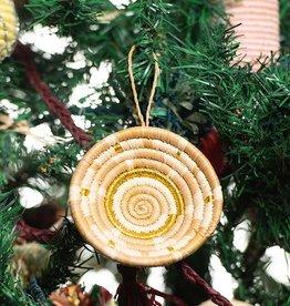 Kazi Tan + Gold Metallic Basket Ornament