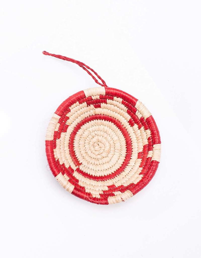 Kazi Red Basket Ornament