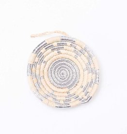 Kazi Silver Metallic Basket Ornament