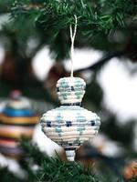Kazi Rounded Blue Metallic Ornament