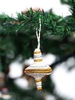 Kazi Diamond Shape Multi Metallic Ornament