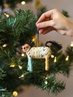Kazi Colorful Raffia Horse Ornament