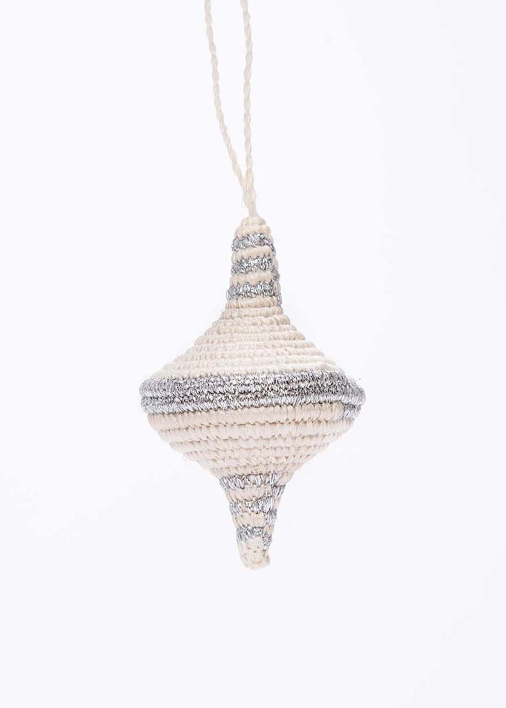 Kazi Diamond Shape Silver Metallic Ornament