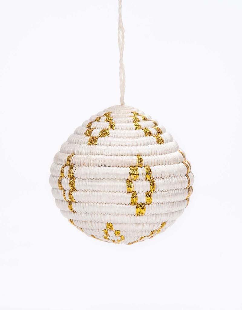 Kazi Gold Metallic Globe Ornament