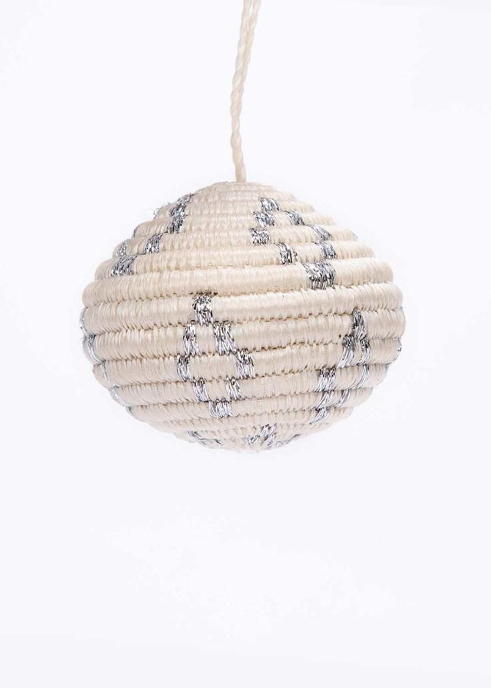 Kazi Silver Metallic Globe Ornament