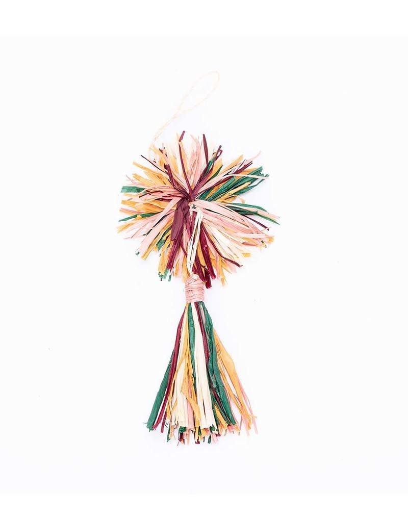 Kazi Mulitcolor Pom Pom + Tassel Ornament